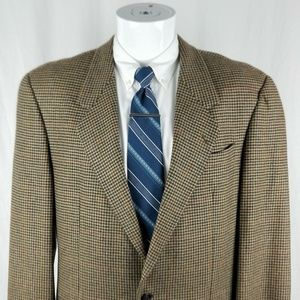 Karl Lagerfeld Men's 40 R Tan 2 Button Wool Blazer